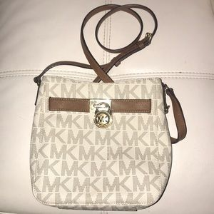 Micheal Kors satchel cream and brown.